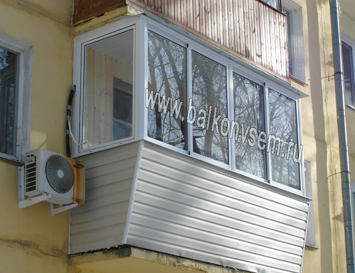 Застеклить балкон в хрущевке фото и цены..