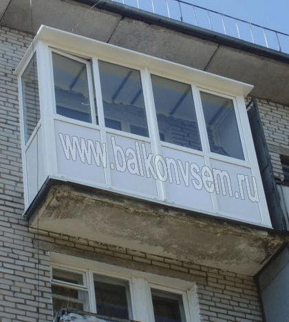 тёплое остекление балконов
