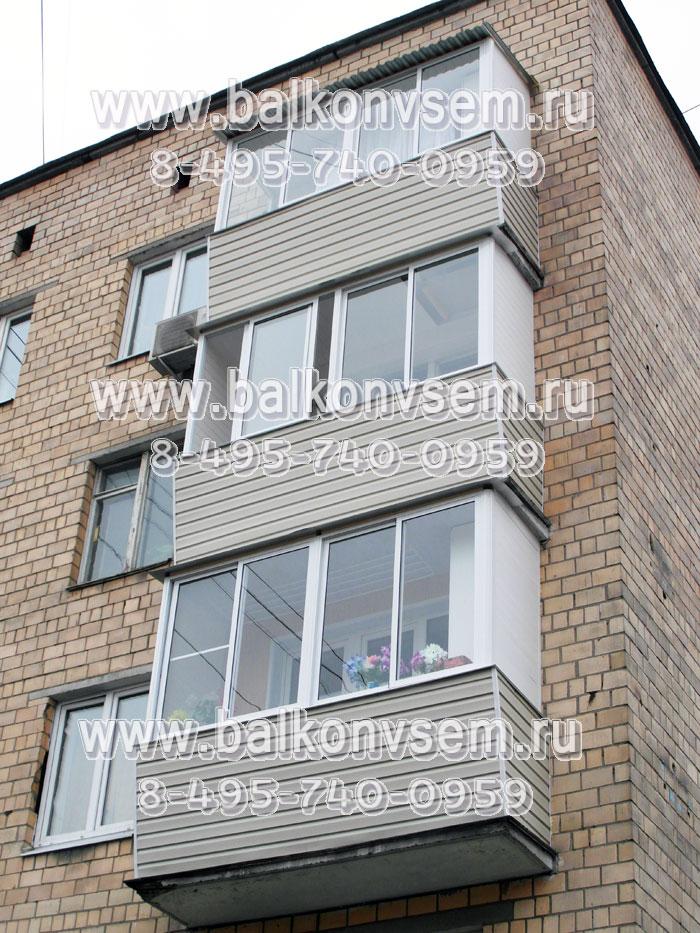 Остекление балконов в пятиэтажке
